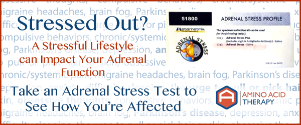 Take an adrenal stress test to see if adrenal function is affecting your health